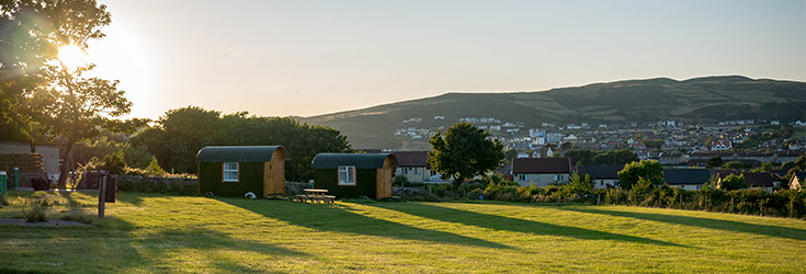 Camping and Glamping in the South of the Isle of Man